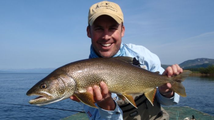 Spey fly fishing for Lake trout in alaska